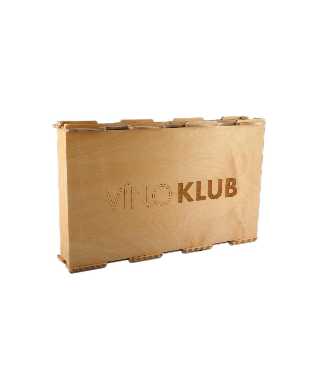 Dřevěná krabice na 6 lahví