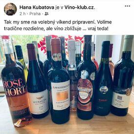 Jsme šťastné, když za nás mluví naše vína a naši milí zákazníci. Předpověď pro volební víkend vidíme stejně! Díky, Hanko❤️ Vaše holky z Víno-klubu!